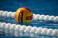 STANFORD, CA - October 9, 2010: Ball during a water polo game against USC in Stanford, California. Stanford beat USC 5-3.
