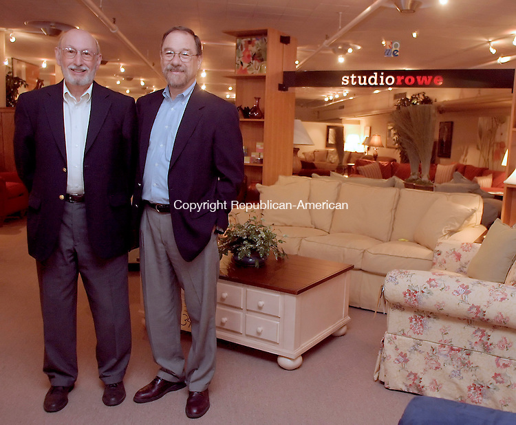 Torrington, CT- 28 September 2005- 092805DA01.JPG - Torrington Furniture. L-R (owners) Jerry and Harry Libby. For Marketplace. Staff Photo. Darlene Douty