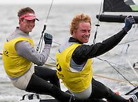 Stevie Morrison and Ben Rhodes. May 29th, Delta Lloyd Regatta in Medemblik, The Netherlands (26/30 May 2011).