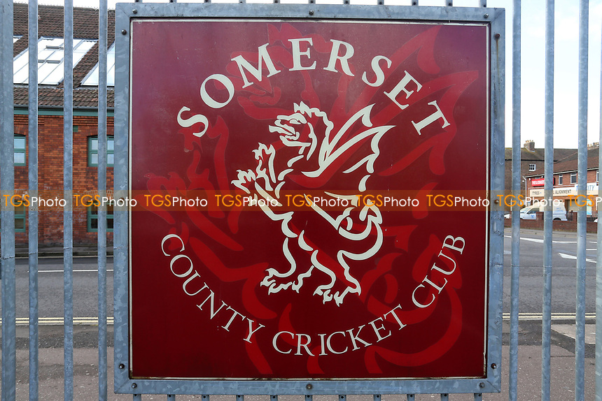 General view of the Somerset CCC sign ahead of Somerset vs Essex Eagles, Royal London One-Day Cup Cricket at The Cooper Associates County Ground on 14th May 2017