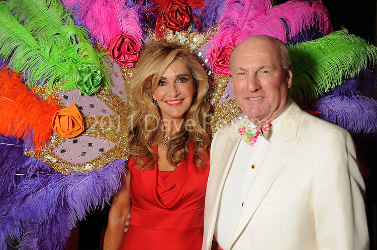 "Chairs Jana and Scott Arnoldy at the 2016 Houston Symphony Gala ""Carnaval"" at Jones Hall Saturday May 14,2016(Dave Rossman Photo)"