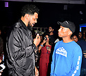 MIAMI, FL - DECEMBER 05: Pharrell Williams and Hebru Brantley (L) attend A Celebration of Hebru Brantley Studio, X Billionaire Boys Club and X Adidas Originals Collaboration at BBCIcecream Miami Pop-UP on December 05 12, 2019 in Miami, Florida.  ( Photo by Johnny Louis / jlnphotography.com )