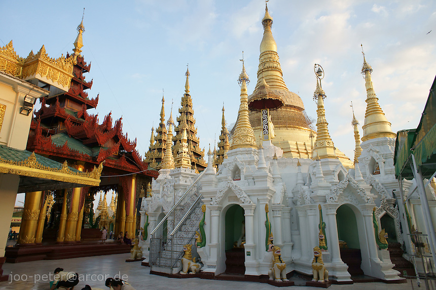 Shwedagon pagoda complex, Yangon, Myanmar, 2011