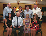 Carmel and Johnny Kierans (centre front) with their family, Padraig, Marie, Betty, Peter, John, Carmel and Geraldine at Carmel's birthday in the Boyne Valley Hotel...Photo NEWSFILE/Jenny Matthews.(Photo credit should read Jenny Matthews/NEWSFILE)....This Picture has been sent you under the condtions enclosed by:.Newsfile Ltd..The Studio,.Millmount Abbey,.Drogheda,.Co Meath..Ireland..Tel: +353(0)41-9871240.Fax: +353(0)41-9871260.GSM: +353(0)86-2500958.email: pictures@newsfile.ie.www.newsfile.ie.FTP: 193.120.102.198.