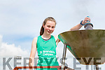 Niamh O'Mahony  St Brendans Oakpark lights the Community Games flame at the games on Saturday