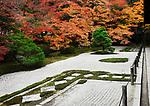 Tenjuan, Tenju-an Temple Garden, traditional Japanese rock Zen garden at Nanzen-ji temple complex in Sakyo-ku, Kyoto, Japan 2017 Image © MaximImages, License at https://www.maximimages.com