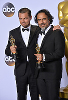 Leonardo DiCaprio &amp; Alejandro G. Inarritu at the 88th Academy Awards at the Dolby Theatre, Hollywood.<br /> February 28, 2016  Los Angeles, CA<br /> Picture: Paul Smith / Featureflash