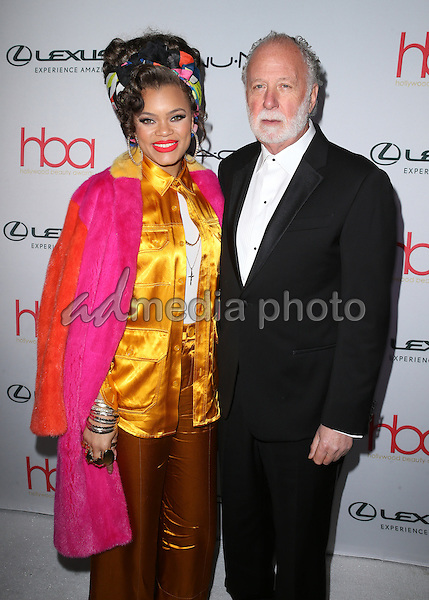 19 February 2017 - Hollywood, California - Andra Day, Adrian Gurvitz. 3rd Annual Hollywood Beauty Awards held at Avalon Hollywood. Photo Credit: AdMedia