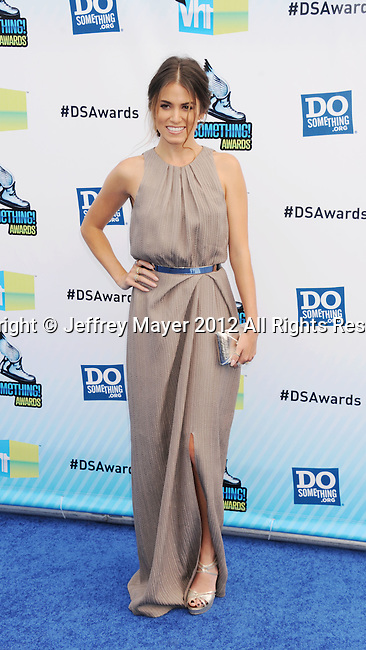 SANTA MONICA, CA - AUGUST 19: Nikki Reed arrive at the 2012 Do Something Awards at Barker Hangar on August 19, 2012 in Santa Monica, California.