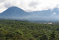 Spanish colonial town of Juayua and Apaneca Volcano in western El Salvador, Central America