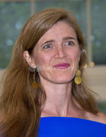 Samantha Power, United States Ambassador to the United Nations arrives for the State Dinner honoring Prime Minister Lee Hsien Loong of the Republic of Singapore at the White House in Washington, DC on Tuesday, August 2, 2016.<br /> Credit: Ron Sachs / Pool via CNP/MediaPunch
