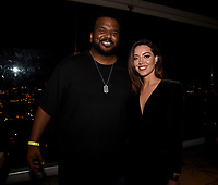"LOS ANGELES, CA - APRIL 2: Craig Robinson and Aubrey Plaza attend the party for the season two premiere of FX's ""Legion"" at the Soho House on April 2, 2018 in Los Angeles, California. (Photo by Frank Micelotta/FX/PictureGroup)"