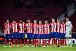 Players of Atletico de Madrid line up prior to the UEFA Europa League 2017-18 Round of 16 (1st leg) match between Atletico de Madrid and FC Lokomotiv Moscow at Wanda Metropolitano  on March 08 2018 in Madrid, Spain. Photo by Diego Souto / Power Sport Images