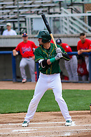 Beloit Snappers outfielder Luis Barrera (16) at bat during a Midwest League game against the Peoria Chiefs on April 15, 2017 at Pohlman Field in Beloit, Wisconsin.  Beloit defeated Peoria 12-0. (Brad Krause/Four Seam Images)