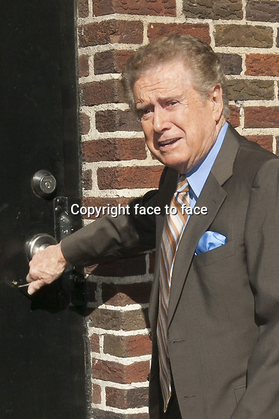 NEW YORK, NY - APRIL 2: Regis Philbin arriving at Late Show with David Letterman on April 2, 2013 in New York City...Credit: MediaPunch/face to face..- Germany, Austria, Switzerland, Eastern Europe, Australia, UK, USA, Taiwan, Singapore, China, Malaysia and Thailand rights only -