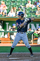 Andy Yerzy (30) of the Missoula Osprey at bat against the Ogden Raptors in Pioneer League action at Lindquist Field on July 14, 2016 in Ogden, Utah. Ogden defeated Missoula 10-4. (Stephen Smith/Four Seam Images)