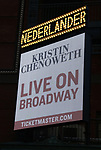 "Theatre Marquee unveiling for ""Kristin Chenoweth - For The Girls"" at the Nederlander Theatre on November 04, 2019 in New York City."