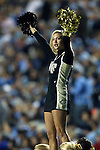 17 October 2015: Wake Forest cheerleader. The University of North Carolina Tar Heels hosted the Wake Foresst University Demon Deacons at Kenan Memorial Stadium in Chapel Hill, North Carolina in a 2015 NCAA Division I College Football game. UNC won the game 50-14.