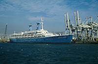 - Genoa, cruise ship Achille Lauro in port....- Genova, la nave da crociera Achille Lauro in porto