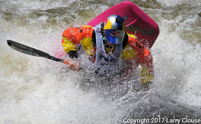 June 9, 2017 - Vail, Colorado, U.S. - Current World Champion, Dane Jackson, in the Freestyle Kayak competition during the GoPro Mountain Games, Vail, Colorado.  Adventure athletes from around the world meet in Vail, Colorado, June 8-11, for America's largest celebration of mountain sports, music, and lifestyle.