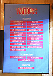 Lobby cast board as Nicolette Robinson makes her Broadway debut in 'Waitress' on September 4, 2081 at the Brooks Atkinson Theatre in New York City.