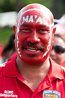 Tongan supporter.<br /> RLWC 2017 Tonga Fan Day, Otahuhu Rugby League Club, Otahuhu, Auckland, New Zealand. 31 October 2017. © Copyright Image: Marc Shannon / www.photosport.nz. MANDATORY CREDIT/BYLINE Marc Shannon/SWpix.com/PhotosportNZ