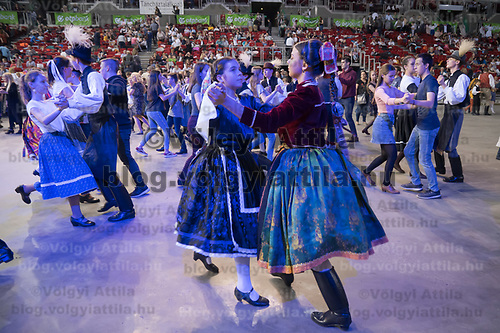 National Folk Dance Gathering at the Papp Laszlo Sports Arena in Budapest, Hungary on April 7, 2019. ATTILA VOLGYI
