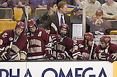 Mike Brennan, Stephen Gionta, Greg Brown, Brett Motherwell, Brian O'Hanley, Pat Gannon - The Boston University Terriers defeated the Boston College Eagles 2-1 in overtime in the March 18, 2006 Hockey East Final at the TD Banknorth Garden in Boston, MA.