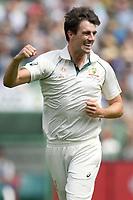 28th December 2019; Melbourne Cricket Ground, Melbourne, Victoria, Australia; International Test Cricket, Australia versus New Zealand, Test 2, Day 3; Pat Cummins of Australia celebrates a wicket - Editorial Use