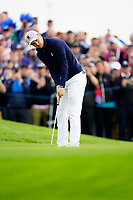 Jordan Spieth (Team USA) on the 5th during the friday fourballs at the Ryder Cup, Le Golf National, Iles-de-France, France. 27/09/2018.<br /> Picture Fran Caffrey / Golffile.ie<br /> <br /> All photo usage must carry mandatory copyright credit (© Golffile | Fran Caffrey)