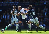 Tottenham Hotspur's Harry Kane vies for possession with West Bromwich Albion's Ahmed Hegazy<br /> <br /> Photographer Ashley Crowden/CameraSport<br /> <br /> The Premier League - West Bromwich Albion v Tottenham Hotspur - Saturday 5th May 2018 - The Hawthorns - West Bromwich<br /> <br /> World Copyright &copy; 2018 CameraSport. All rights reserved. 43 Linden Ave. Countesthorpe. Leicester. England. LE8 5PG - Tel: +44 (0) 116 277 4147 - admin@camerasport.com - www.camerasport.com