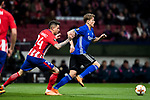 Nicolaj Thomsen of FC Copenhague is followed by Jose Maria Gimenez de Vargas of Atletico de Madrid during the UEFA Europa League 2017-18 Round of 32 (2nd leg) match between Atletico de Madrid and FC Copenhague at Wanda Metropolitano  on February 22 2018 in Madrid, Spain. Photo by Diego Souto / Power Sport Images