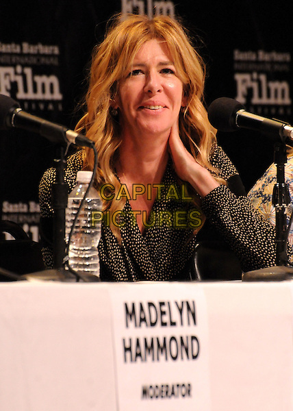 "Dede Gardner.27th Annual Santa Barbara Film Festival: ""Creative Forces: Women in The Biz"" Panel held at the Lobero Theatre, Santa Barbara, California, USA, .28th January 2012..half length microphone sitting conference.CAP/ADM/BP.©Byron Purvis/AdMedia/Capital Pictures."