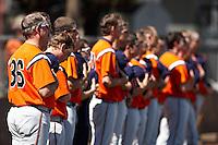 SAN ANTONIO, TX - FEBRUARY 21, 2010: The Houston Baptist University Huskies vs. the University of Texas at San Antonio Roadrunners Baseball at Roadrunner Field. (Photo by Jeff Huehn)