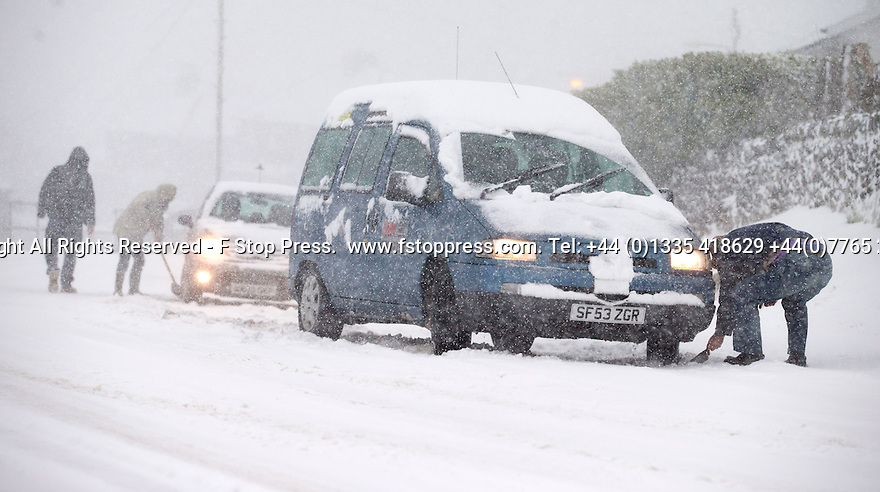29/01/15<br /> <br /> <br /> Heavy snowfall results in multiple accidents, stranded vehicles and traffic chaos as the wintery weather does its best to shut down theDerbyshire Peak District town of Buxton.<br /> <br /> All Rights Reserved - F Stop Press.  www.fstoppress.com. Tel: +44 (0)1335 418629 +44(0)7765 242650