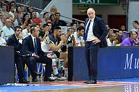 MADRID, ESPAÑA - 11 DE JUNIO DE 2017: El entrenador del Real Madrid, Pablo Laso, durante el partido entre Real Madrid y Valencia Basket, correspondiente al segundo encuentro de playoff de la final de la Liga Endesa, disputado en el WiZink Center de Madrid. (Foto: Mateo Villalba-Agencia LOF)