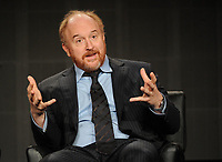 ***FILE PHOTO**  Louis C.K. Film Premiere Cancelled Amid Sexual Misconduct Allegations<br /> <br /> 2015 FX WINTER TCA: (L-R) Creator/EP/Writer/Director/Editor/Star Louis C.K.  during the LOUIE panel at the 2015 FX WINTER TCA on Sunday, Jan. 18 at the Langham Hotel in Pasadena CA.   <br /> CAP/MPI/PGFM<br /> &copy;PGFM/MPI/Capital Pictures