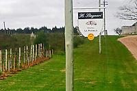 Sign to the H Stagnari Winery Castel La Puebla. Bodega Vinos Finos H Stagnari Winery, La Puebla, La Paz, Canelones, Montevideo, Uruguay, South America