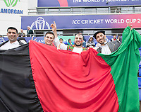 The weather wasn't able to dampen the spirit of the fans during Afghanistan vs Sri Lanka, ICC World Cup Cricket at Sophia Gardens Cardiff on 4th June 2019