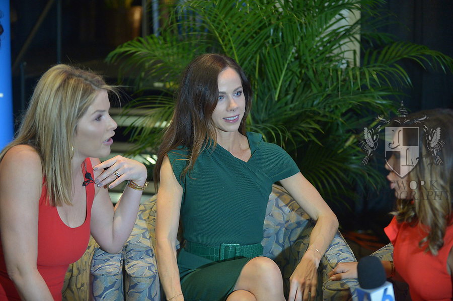 MIAMI, FL - NOVEMBER 16: Jenna Bush Hagar and Barbara Pierce Bush during a interview with Kelly Blanco at The Miami Book Fair at Miami Dade College Wolfson - Chapman Conference Center on November 16, 2017 in Miami, Florida. ( Photo by Johnny Louis / jlnphotography.com )