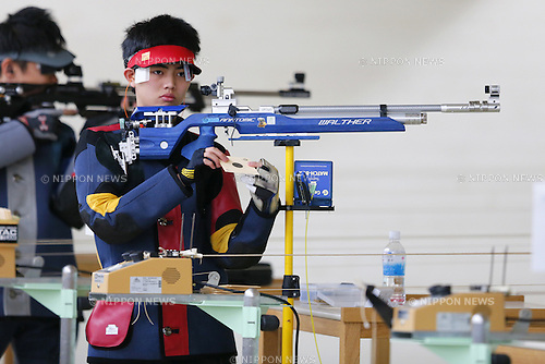 Yuto Oshio, MARCH 12, 2016 - Shooting - Rifle : All Japan Shooting Championship Men's 10m Air Rifle at Miyagi Shooting Range in Miyagi, Japan. (Photo by Yusuke Nakanishi/AFLO SPORT)