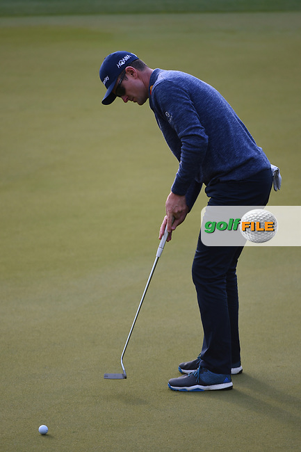 Justin Rose (GBR) watches his putt on 3 during day 4 of the WGC Dell Match Play, at the Austin Country Club, Austin, Texas, USA. 3/30/2019.<br /> Picture: Golffile   Ken Murray<br /> <br /> <br /> All photo usage must carry mandatory copyright credit (© Golffile   Ken Murray)