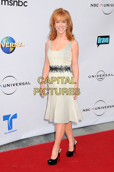 "KATHY GRIFFIN.The Cable Show 2010 ""An Evening with NBC Universal"" held at Universal Studios Hollywood, Universal City, California, USA..May 12th, 2010.full length beige white sleeveless dress grey gray black shoes waistband striped .CAP/ADM/BP.©Byron Purvis/AdMedia/Capital Pictures."