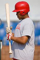 Catcher Ivan Castro (25) of the Johnson City Cardinals during batting practice at Howard Johnson Field in Johnson City, TN, Thursday July 3, 2008.