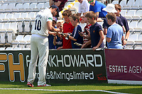 Nick Browne of Essex signs autographs on the boundary during Essex CCC vs Warwickshire CCC, Specsavers County Championship Division 1 Cricket at The Cloudfm County Ground on 21st June 2017