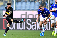 Stefano Sensi of FC Internazionale scores the goal of 0-1 for his side <br /> Genova 28-09-2019 Stadio Luigi Ferraris Football Serie A 2018/2019 Sampdoria - FC Internazionale  <br /> Photo Image Sport / Insidefoto