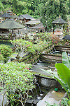 Sebatu, Bali, Indonesia; Gunung Kawi Sebatu Tegallalang temple, water temple near the village of Sebatu, outside of Ubud