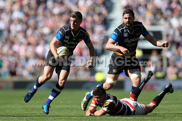 George Ford of Bath Rugby in possession. The Clash, Aviva Premiership match, between Bath Rugby and Leicester Tigers on April 8, 2017 at Twickenham Stadium in London, England. Photo by: Rogan Thomson / JMP for Onside Images