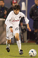 Joselito Vaca of the Burn. The Dallas Burn were defeated by the NY/NJ MetroStars 2-1 on 5/24/03 at Giant's Stadium, East Rutherford, NJ.