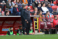 Lee Bowyer manager of Charlton Athletic not happy with a decision during Charlton Athletic vs Preston North End, Sky Bet EFL Championship Football at The Valley on 3rd November 2019